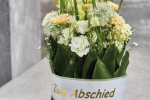Funeral Arrangement With Ribbons