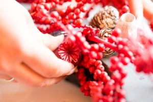 Red Advent Wreath