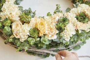 Funeral Wreaths with Flower Line