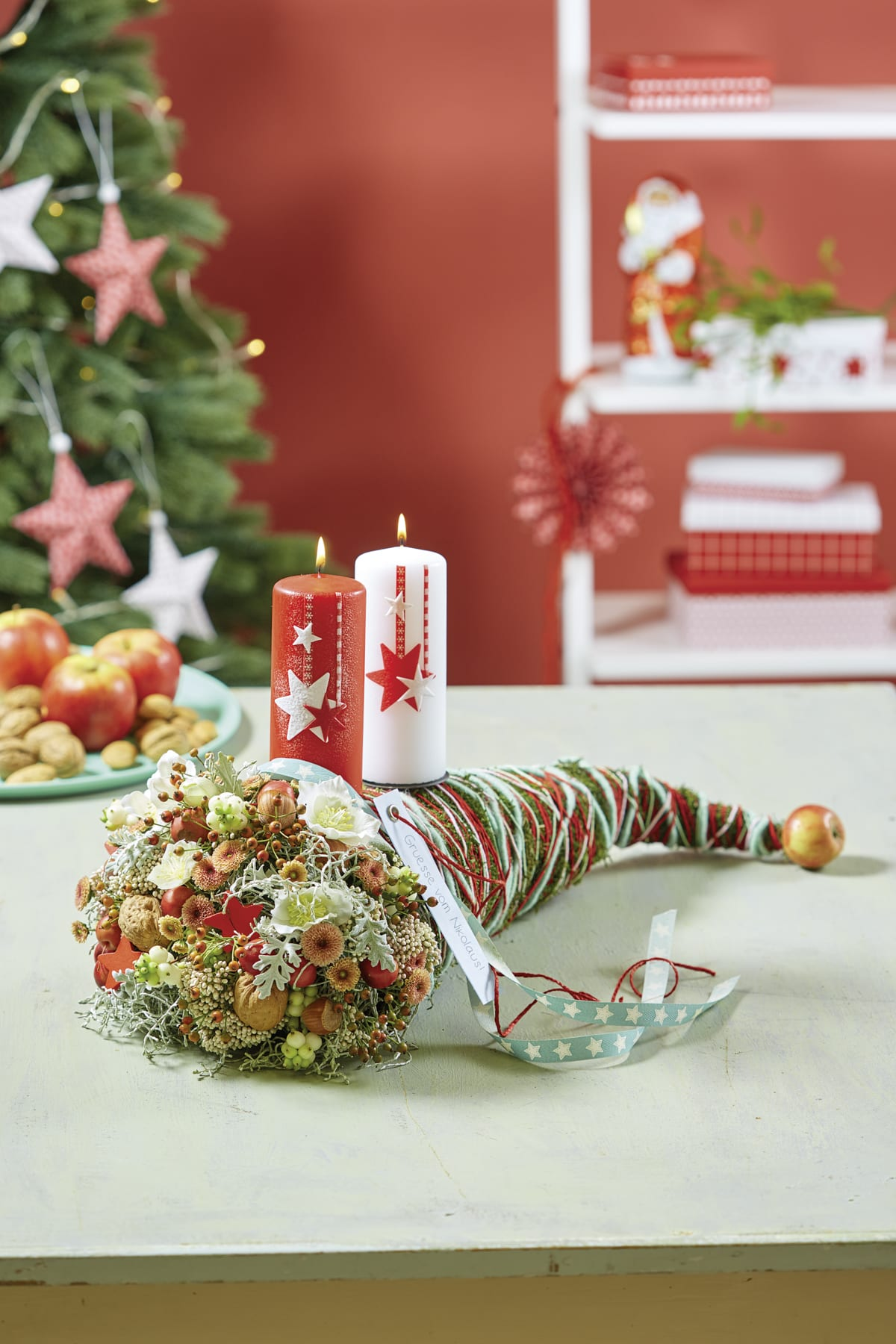 Floral Decoration for St. Nicholas' Day and Christmas