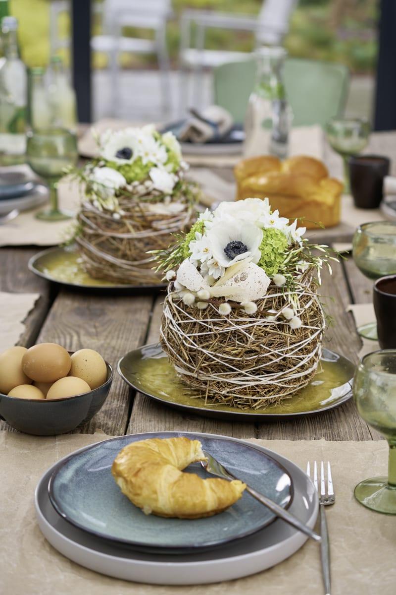 Tischdekoration im Frühling