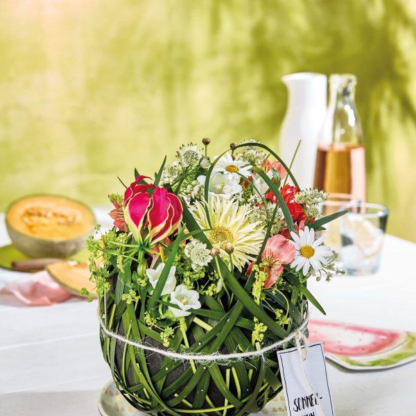 Florale Sommerdeko