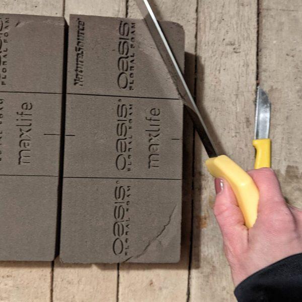 biobasierter Steckschaum cutting